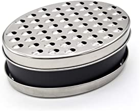Cheese Grater With Airtight Storage Container,cheese shredder&vegetable grater(2-in-1),Box Grater (Black)