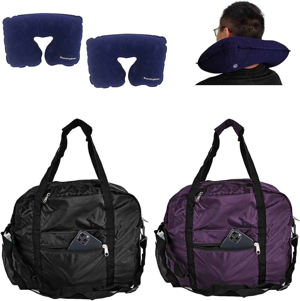 "16"" 2-pc-set personal item Ranking TOP4 under pillo seat Regular dealer duffel bag with"