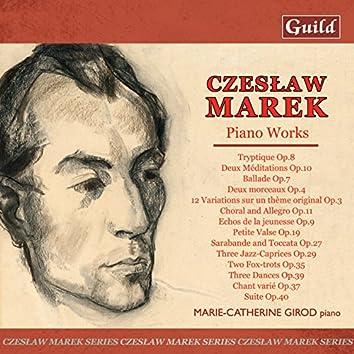 Marek: 12 Variations Op. 3, Balade Op. 7, Chant Varié Op. 37, Choral and Allegro Op. 11, Deux Méditations Op. 10, Tree Dances Op. 39