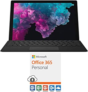 "Microsoft NKR-00001 Surface Pro 6 12.3"" Intel i5-8250U 8GB/128GB with Black Pro Type Cover Bundle Office 365 Personal 1-Year Subscription for 1 Person"