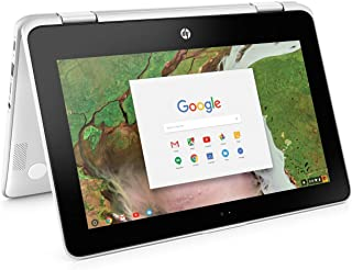 "2019 HP Chromebook x360 11.6"" HD High Performance 2-in-1 Tablet Laptop Computer, Intel Celeron N3350 up to 2.4GHz, 4GB DDR4 RAM, 32GB eMMC, 2x2 802.11AC WiFi, Bluetooth 4.2, USB 3.1, Chrome OS"