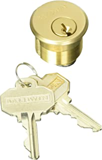 Baldwin 8321 1 Mortise Cylinder C Keyway, Vintage Brass
