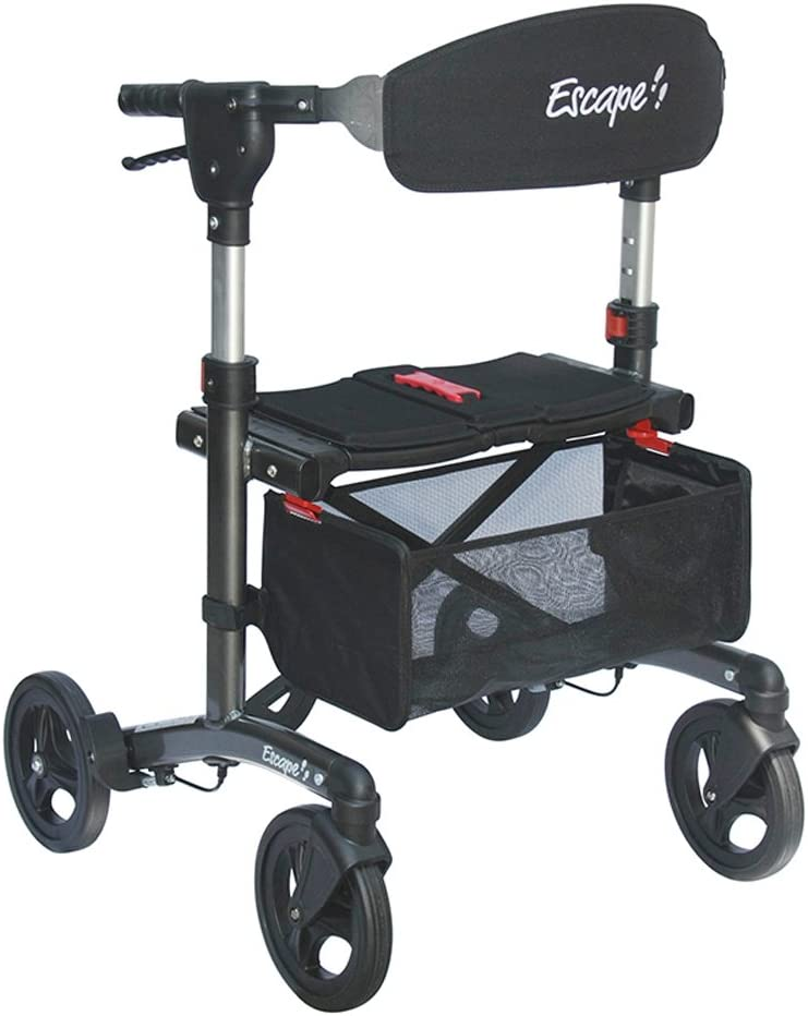 Escape Rollator - Super Low Seat Charcoal Height Popular Max 84% OFF brand in the world 19 in.