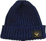 ハイランド2000 英国製コットンワッチキャップ ニット帽 (ネイビー)