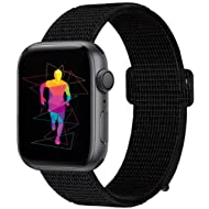 INTENY Sport Band Compatible with Apple Watch 38mm 40mm 42mm 44mm, Nylon Sport Loop, Strap...