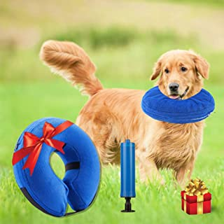 Nappo Inflatable Cone (Recovery) Collar for Dogs and Cats After Surgery Preventing Pets from Biting and Licking