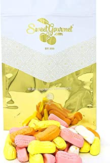 SweetGourmet Colored Circus Peanuts | Retro Marshmallow Candy | 2.5 Pounds