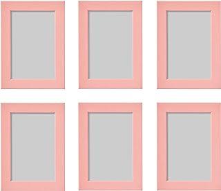 comprar comparacion Ikea FISKBO - Marco de fotos (6 unidades, 10 x 15 cm), color rosa
