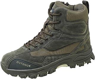 Bottes Hautes De Travail Desert Boots Homme Cuir Bottine A Lacets Chaussures Militaires LéGèRes Vintage Mode Pas Cher Boot...
