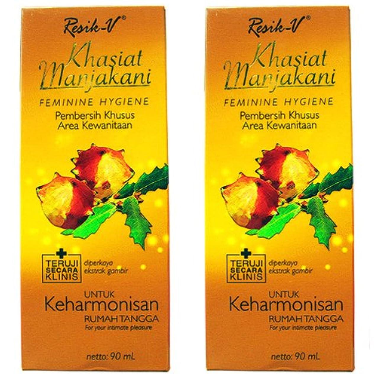 飢えガソリンリストResik-V マンジャカニ 女性用液体ソープ90ml 2本セット [並行輸入品][海外直送品]