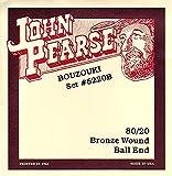 John Pearse Strings® 5220B Jeu de Cordes pour Irish Bouzouki - 80/20 Bronze Wound - Ball-End - 10 Cordes Simples - Light Gauge Customs 11-40