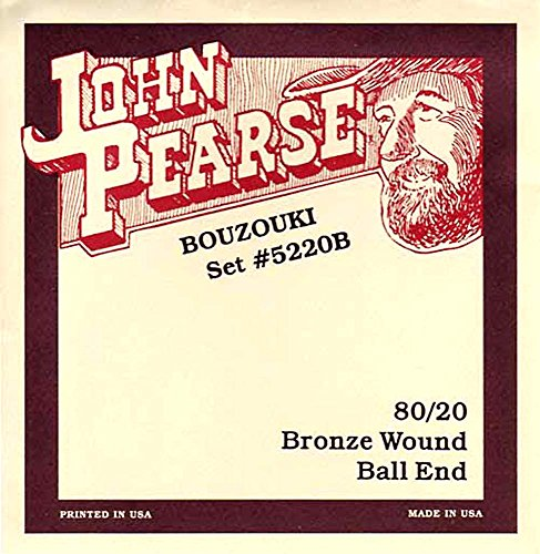 John Pearse Irische Bouzouki-Saiten, leicht, mit Ballends