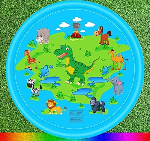 N-B Piscina Inflable para bebés, césped al Aire Libre, Playa, Animales Marinos, Fuente Inflable, Fuente de Agua para niños, Alfombra de Juego, Alfombra de Playa