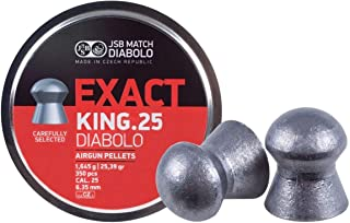 JSB Match Diabolo Exact King .25 Cal, 25.39 Grains, Domed, 350ct, 2 Pack