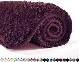 Suchtale Bath Rug for Bathroom Non Slip Bathroom Mat (20 x 32, Merlot) Water Absorbent Soft Microfiber Shaggy Bathroom Rug...