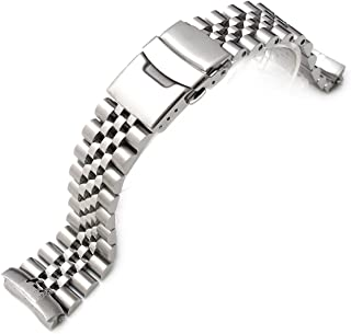 22mm Super Jubilee 316L Stainless Steel Watch Band for SEIKO Diver 6309-7040