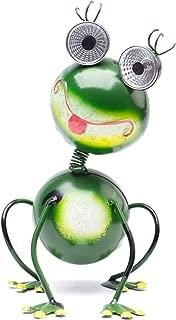 Solar Garden Lights Statue Green Frog Figurine, LED Outdoor Lights for Path Yard Lawn Patio, Backyard, Patio, Housewarming Gift