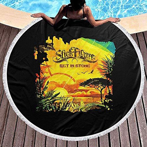 Duanrest Ronde strandhanddoek, picknicktapijt, wandtapijt, wandtapijt, strand, deken, yogamat met kwasten, steentjes in steen