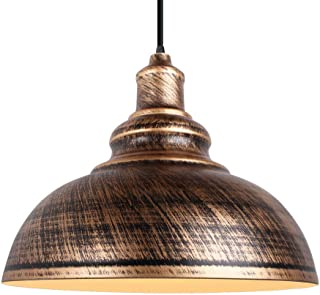 Suspensions Luminaires Industrielle Vintage Plafonnier Lustre Abat-jour en Métal Ø29cm Lampe de Plafond éclairage Intérieu...