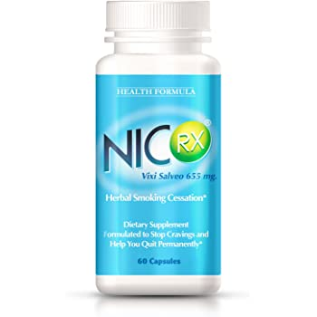 NicRx | Natural Anti Smoking Pills with Lobelia to Help Quit Smoking & Curb Nicotine Addiction | Control Cigarette Cravings & Withdrawal Symptoms | Safe, Nicotine Free & No Side Effects | 60 capsules