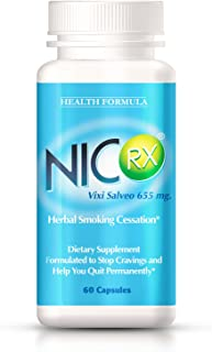 NicRx   Natural Anti Smoking Pills with Lobelia to Help Quit Smoking & Curb Nicotine Addiction   Control Cigarette Cravings & Withdrawal Symptoms   Safe, Nicotine Free & No Side Effects   60 capsules