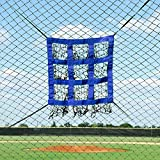 9 HOLE STRIKE ZONE - Expertly designed to improve a pitchers accuracy & precision, these pitching targets feature a 9-hole strike zone & will catch the ball in the sock style net. SIMPLE ATTACHMENT - Attach the target zone simply to the net with the ...