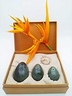 Yoni Egg Set • 3-Piece Nephrite Jade Yoni Egg Set