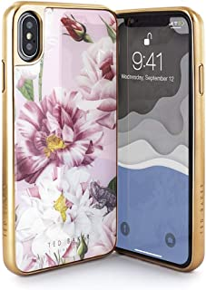 Ted Baker Fashion Premium Tempered Glass Case for iPhone Xs Max, Protective Cover iPhone Xs Max for Professional Women/Girls - Iguazu