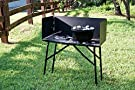 Lodge Steel Collapsible Outdoor Cooking Table, 16 Inch x 32 Inch x 26 Inch, Black #2