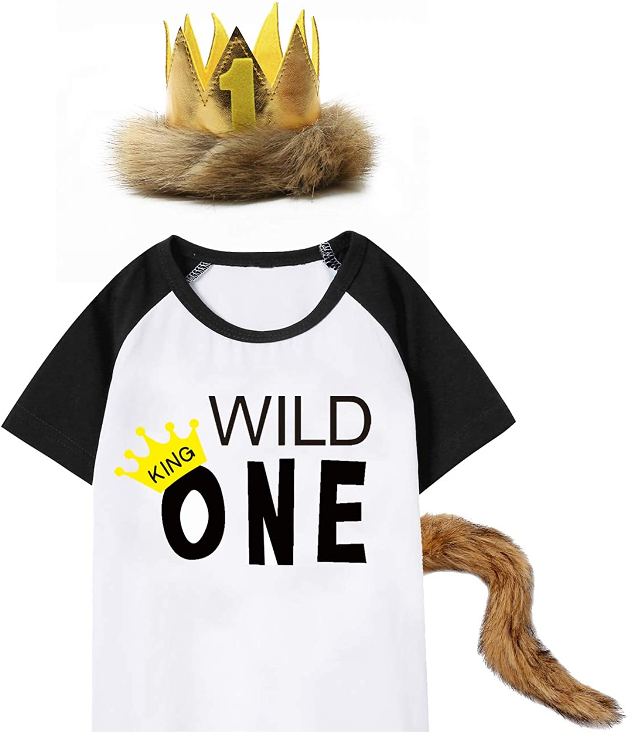 Baby Boys Girls Where The Wild Things Are Romper with Tail and Crown