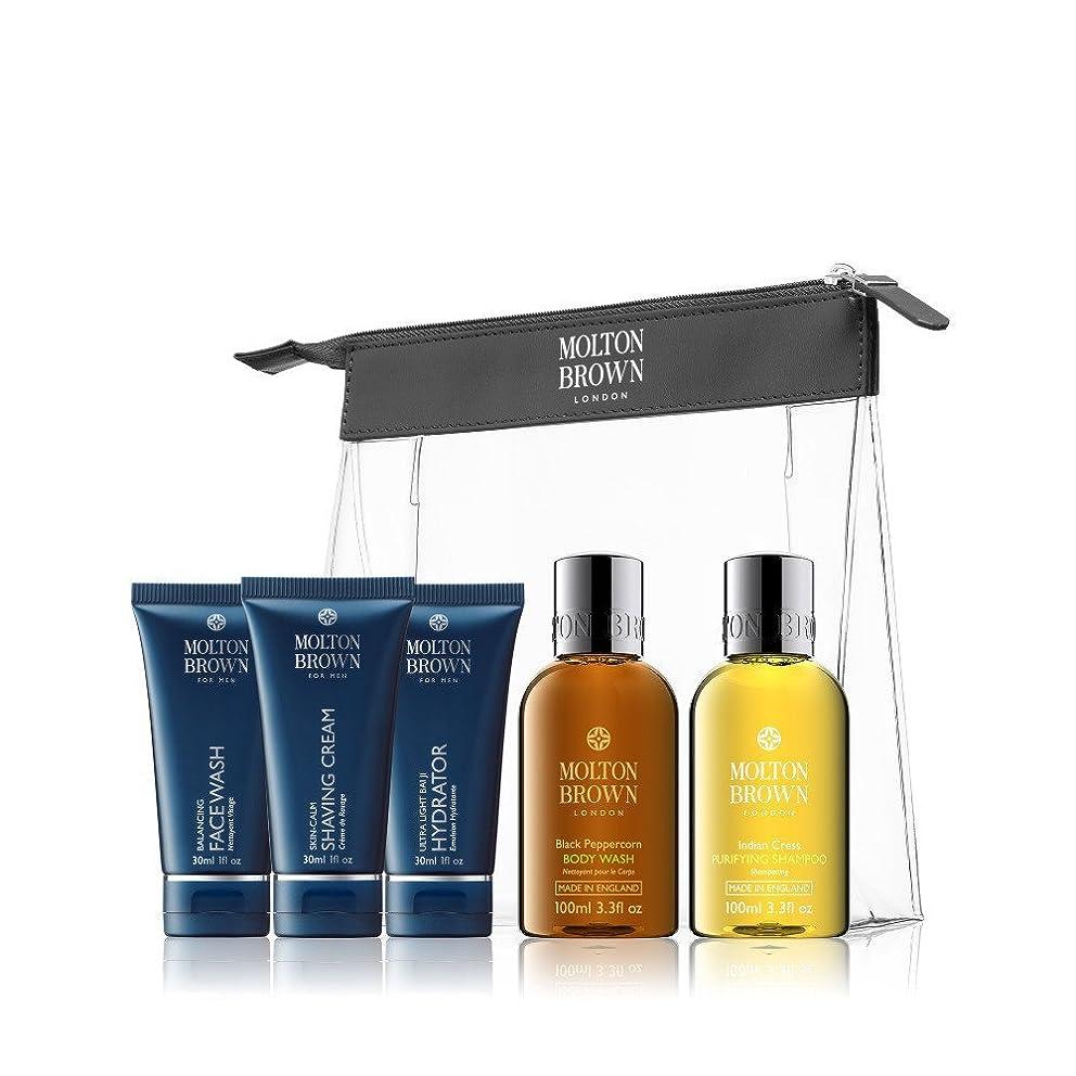 線オート製品設定モルトンブラウンメンズ旅の贅沢 - Molton Brown Men's Travel Luxuries Set [並行輸入品]