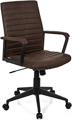 hjh OFFICE 621860 LODGE - Silla de oficina, piel sintética marrón