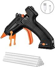 TOPELEK Cordless Hot Glue Gun, Mini Glue Gun Kit with 10Pcs Glue Sticks, USB Charging..