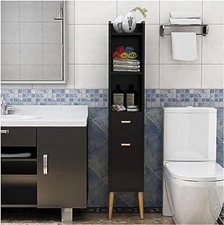 KOKOF Rangement de salle de bain de toilette de rangement côté armoire de toilette étroite armoire de toilette coin armoir...