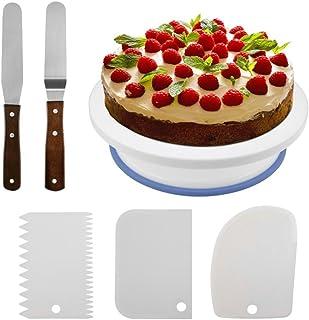 Ankamal Elec Plato Giratorio de Torta con 3 Piezas de glaseado Más Suave + 2 Piezas
