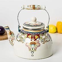 Koffie sets porselein glazuur waterkoker, grote capaciteit theeketel, grote capaciteit Retro-stijl 4.0L huishouden met fil...