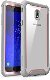 i-Blason Case Designed for Galaxy J7 (SM-J737 2018 Release), [Ares] Full-Body Rugged Clear Bumper Case with Built-in Screen Protector Not fit (J7 Pro 2017 SM-J730) (Pink)