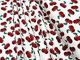 mollipolli-Stoffe Jersey Little Darling Kirschen auf weiß