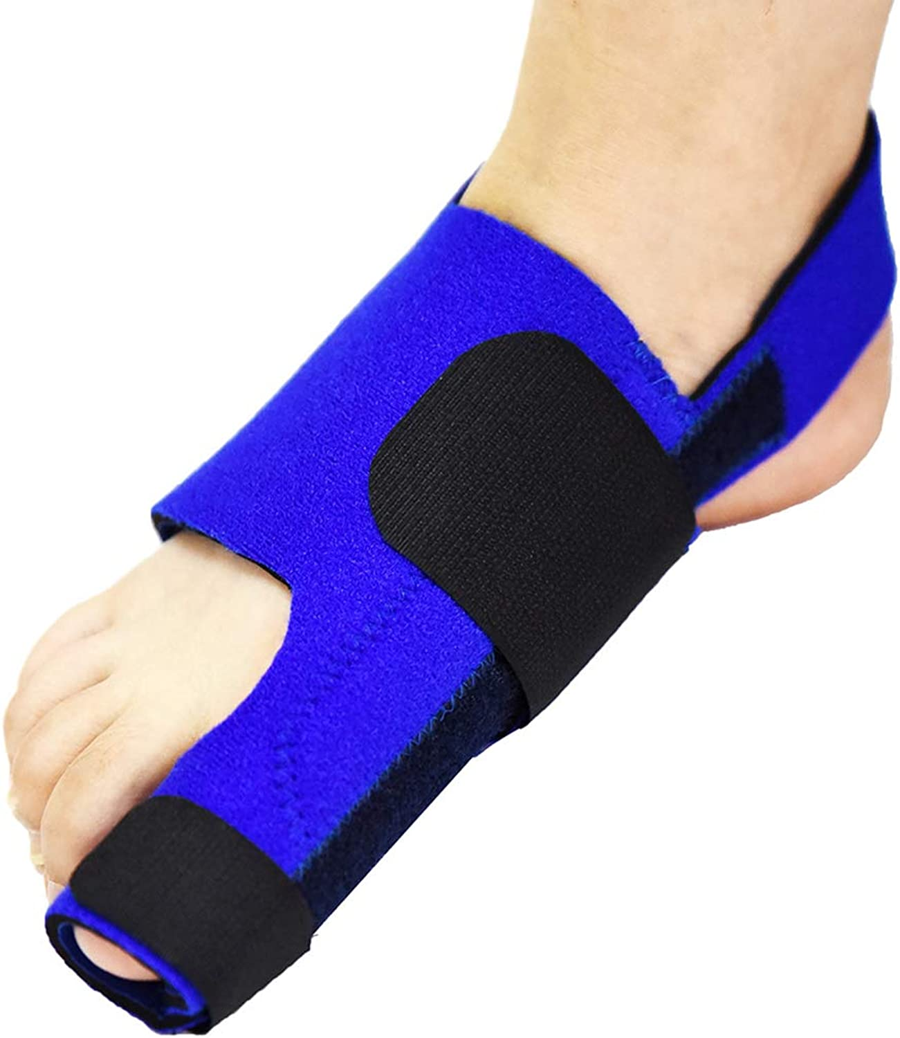 Toe Fixer, Foot Toe Splitter, One Size, Unisex Foot Corrector, Suitable for Fight Bunions, Hammer Toes,blueee