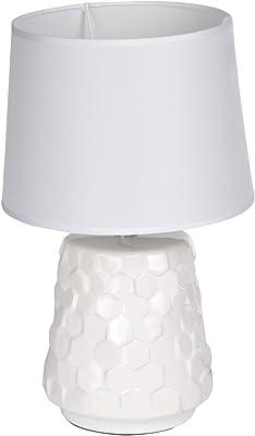 HOMEA 6LCE127BC Lampe, CERAMIQUE, 40 W, Blanc, DIAMETRE20H32CM