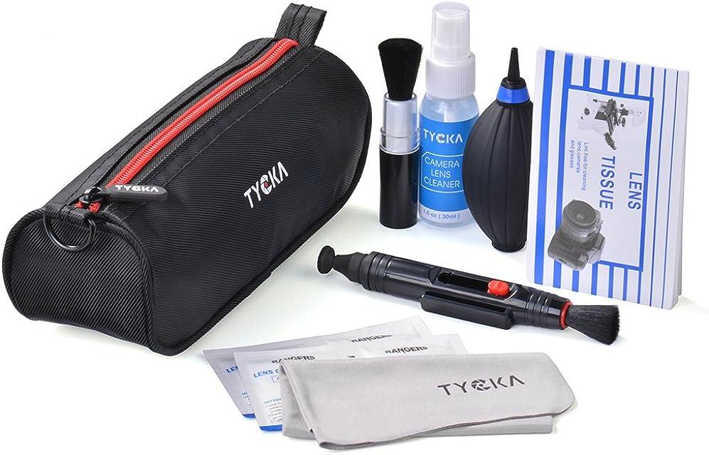 TYCKA Kit de Limpieza Profesional para cámaras réflex Digitales Canon Nikon Pentax Sony Telescopios y Binoculares ect con Bolso Resistente al Agua
