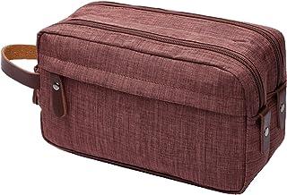 IBLUE Toiletry Bags,Mens Double Zipper Toiletry Bag Dopp Kit Travel Bathroom Bag Waterproof Shaving Shower Cosmetic Organi...