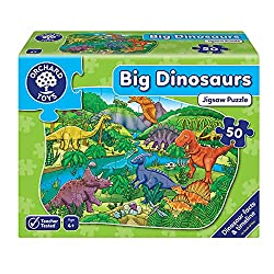 50-piece shaped puzzle Learn about different dinosaurs Develops hand-eye coordination Includes talkabout guide on the back of the box Suitable for ages 4+