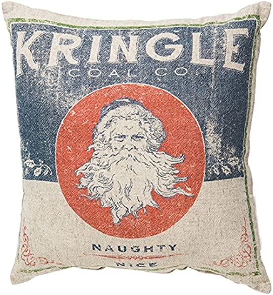 Primitives By Kathy Holiday Kringle Coal Throw Pillow