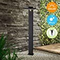 "BRIMMEL Outdoor Solar Landscape Path Lights 60W with Motion Senor Aluminum Waterproof 8H Endurance Cordless Landscaping Garden Light for Lawn Patio Yard Driveway, Solar Energy, Black, 32"", SG601033"