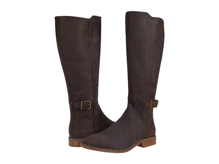 Clarks Camzin Branch (Dark Brown Leather) Women's Boots