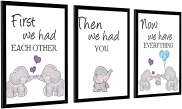 Baby olifant kunst retro muur opknoping plaque poster kunst teken voor huis & garage frame-stijl1 28 × 40 inch (70 × 100 cm)