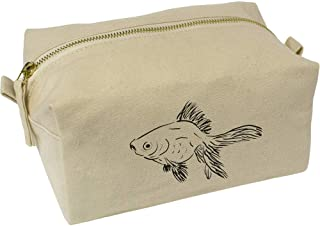 'Goldfish' Canvas Wash Bag / Makeup Case (CS00018430)