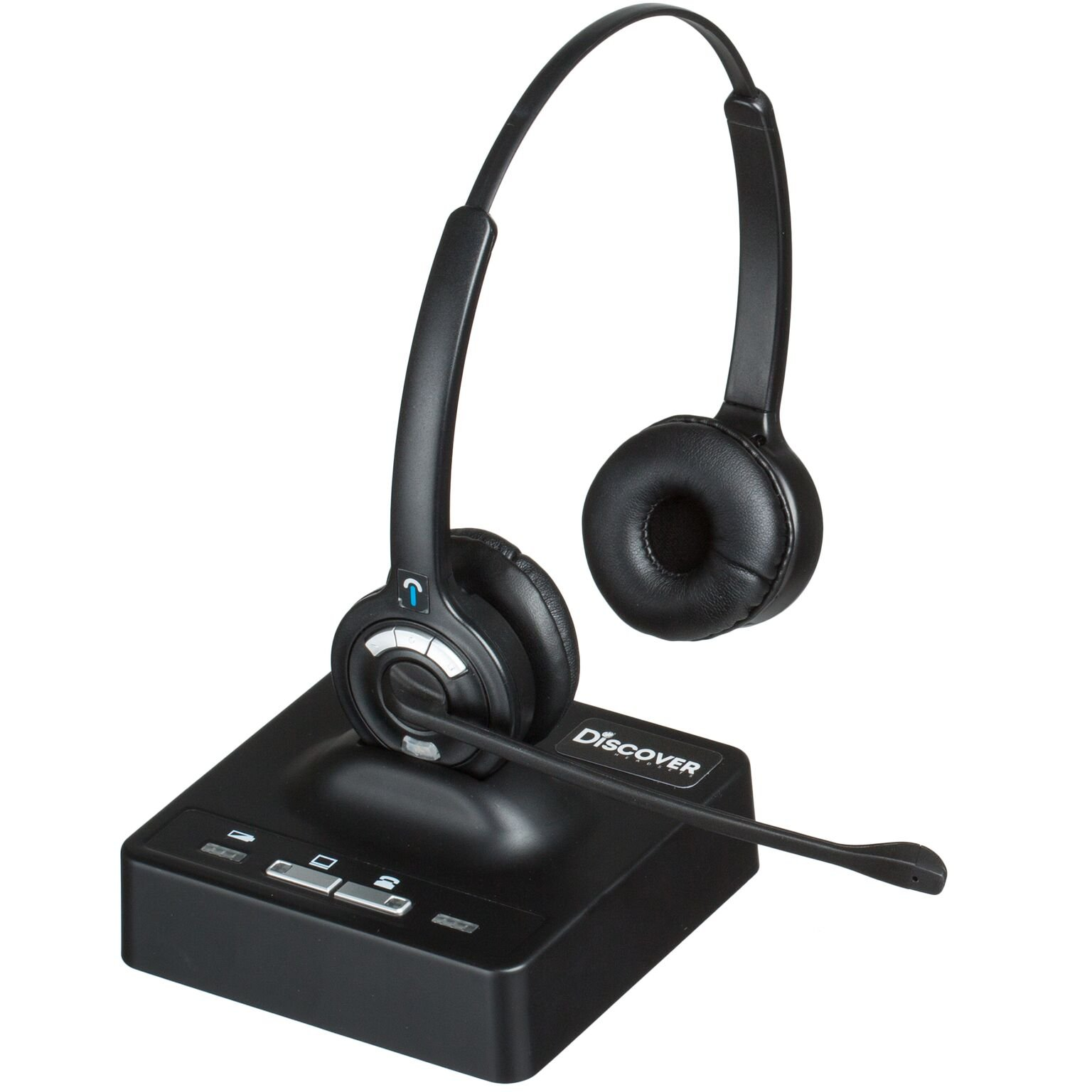Amazon Com Discover D902 Duo Long Range Wireless Office Headset System For Telephone And Computer Electronics