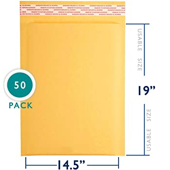 Sealed Air Jiffy Lite Cushioned Mailers Seal Pack of 50 #7 14.25 x 20 Inches